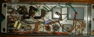 Modified 145 Leslie amplifier, before restoration & standardising